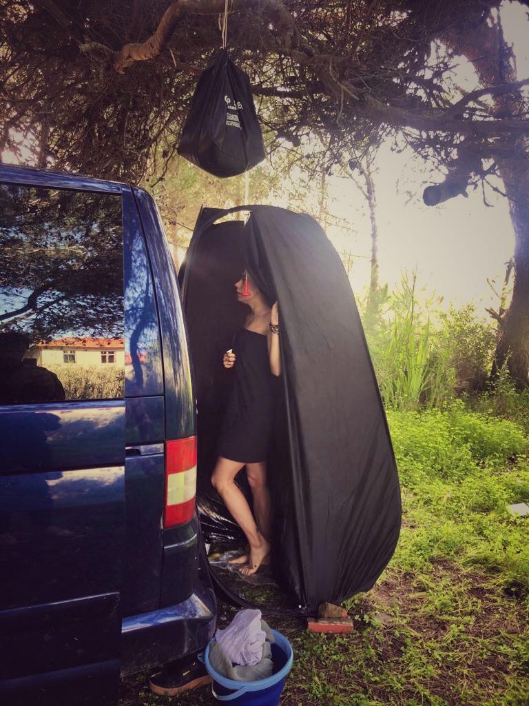 stay clean in a van