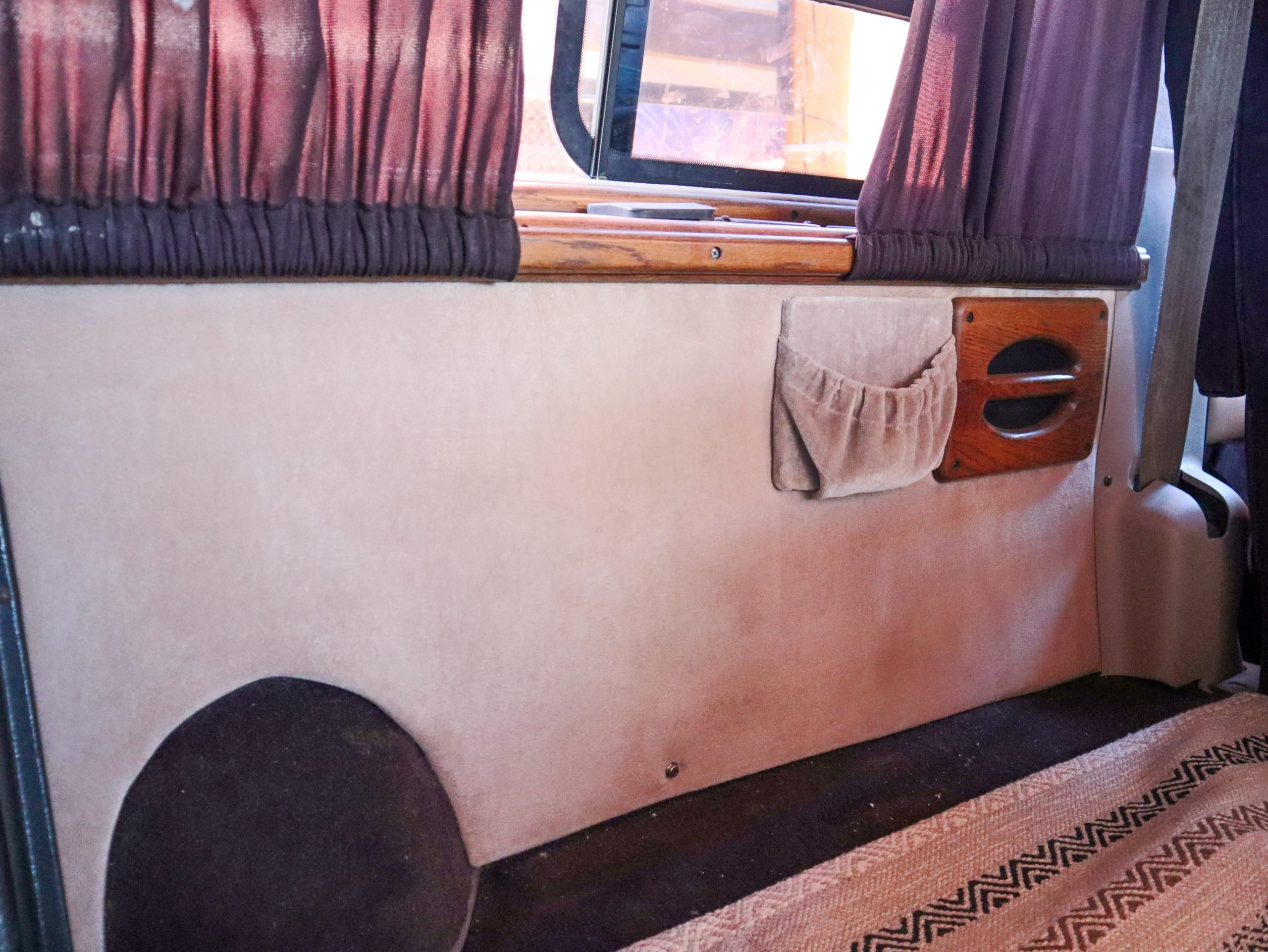interior of old camper van renovated