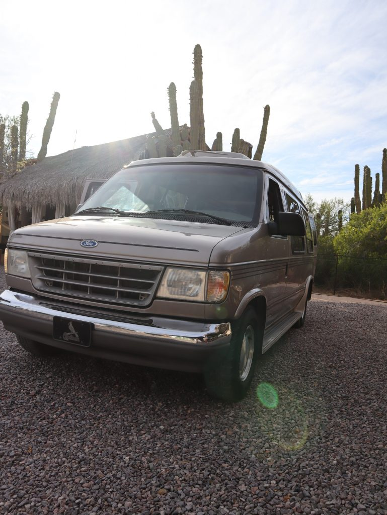 before photo of Ford camper van