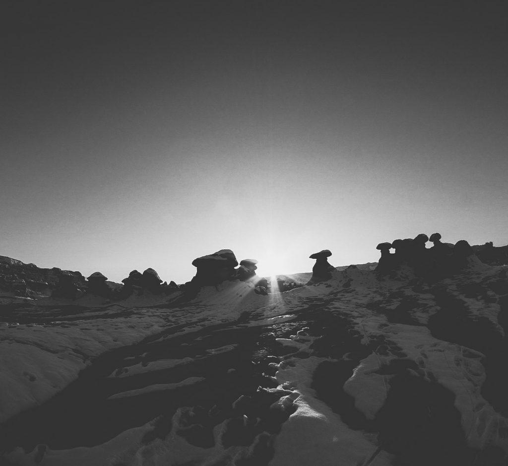 dark sky in Goblin Valley State Park