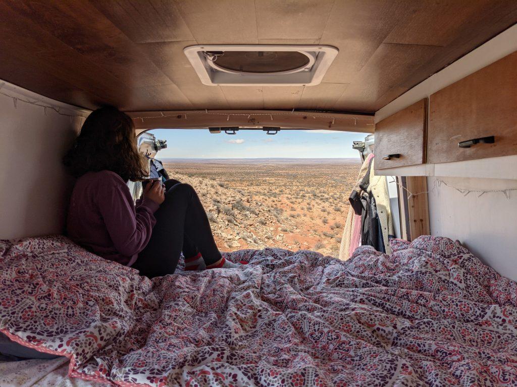 interior of a camper van