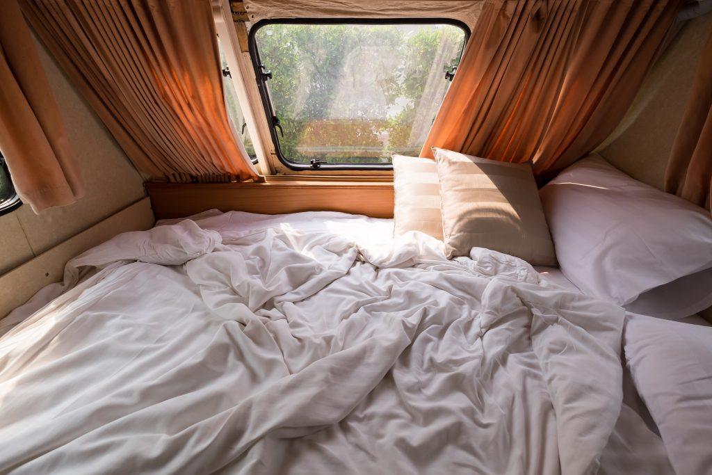 mattress in a van