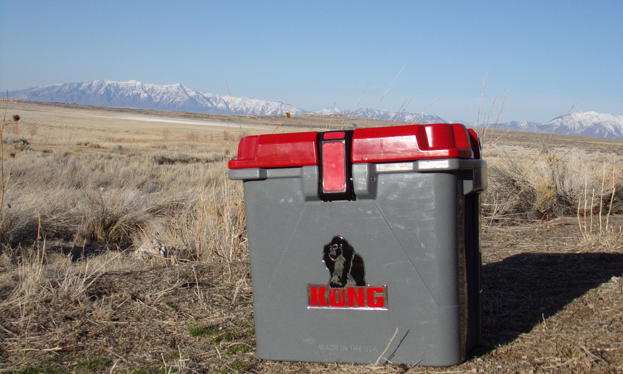 cooler at campground for food storage