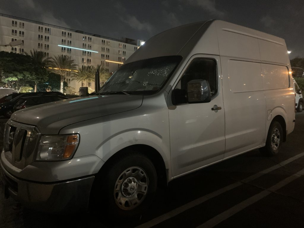 exterior of Nissan NV 2500
