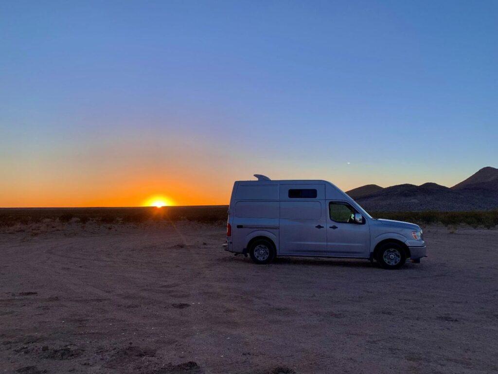van life at sunset