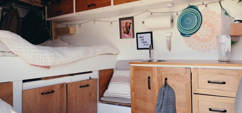 Interior of van buildout