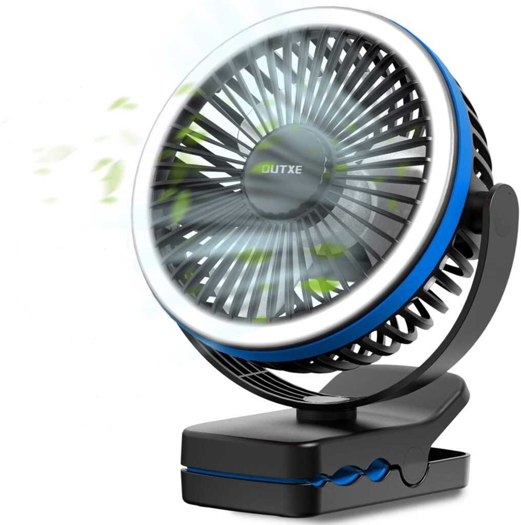 OUTXE battery operated fan for camping